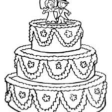 beautifully decorated wedding cake coloring pages place