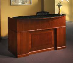Granite Reception Desk Mayline Furniture Srcdm Sorrento Reception Desk With Granite Counter