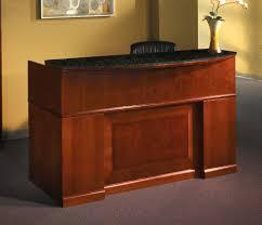 Maple Reception Desk by Mayline Furniture Srcdm Sorrento Reception Desk With Granite Counter