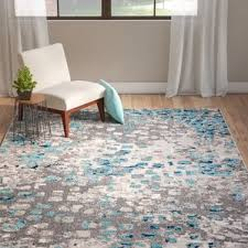 Brown And Blue Rug Modern Bungalow Rose Area Rugs Allmodern