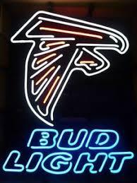bud light tin signs rare new bud light atlanta falcons nfl budweiser beer bar neon sign