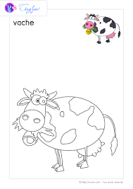 PDF Dessin à colorier Animaux de la ferme à imprimer