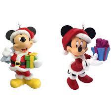 hallmark disney mickey and minnie mouse as santa and