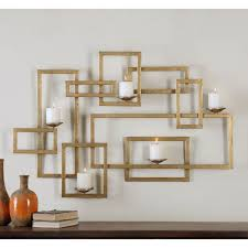 Candle Holder Wall Sconces Attractive Candle Wall Decor Metal Mounted Tealight Holder In