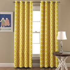 Mustard Curtain Double Wide Grommet Curtains Amazon Com