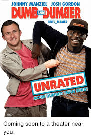 Johnny Football Meme - johnny manziel josh gordon dumb umber and onfl memes unrated coming