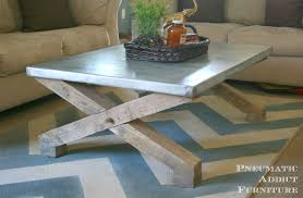 pottery barn knock off zinc coffee table diy projects