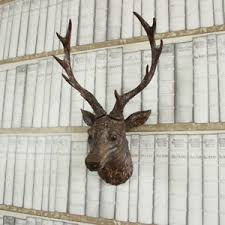 wooden stag wall deer stag ebay