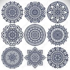 ornament beautiful card with mandala geometric circle element