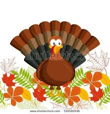 happy thanksgiving card turkey icon stock vector 518580916