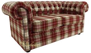 Tartan Chesterfield Sofa Chesterfield Arnold Wool 2 Seater Sofa Settee Fernie Tweed Check