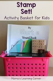activity basket for kids stamp set mamas learning corner