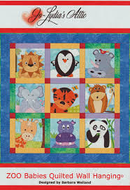 the of sewing and quilting zoo babies quilted wall