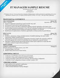 Ccna Resume Examples by Example It Resume Example Resume It Chic Design Sample It Resume