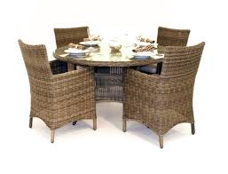 Rattan Dining Chairs In Both Indoor And Outdoor Rooms  Apron - Rattan dining room set