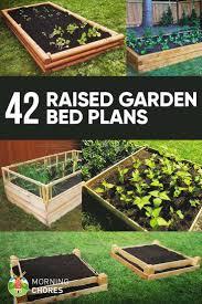 Vegetable Garden Planter Box Plans 42 Diy Raised Garden Bed Plans U0026 Ideas You Can Build In A Day