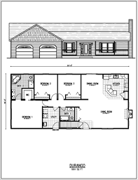 baby nursery single story ranch style house plans 1960 style