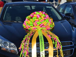 big bow for car present ribbon bow for cars and gifts