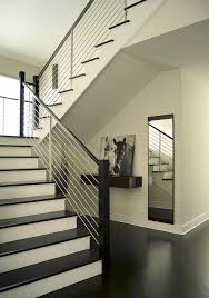 contemporary stair railing staircase contemporary with baseboard