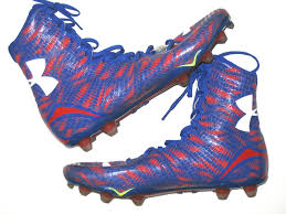 light blue under armour cleats jerome cunningham new york giants game worn cleats