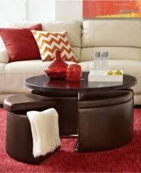 Cocktail Tables With Seating Coffee Table With Ottoman Seating Foter