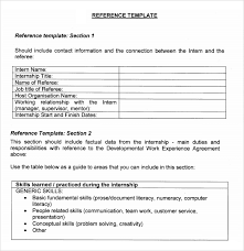 Template For Resume References Job Reference Template Resume References Template Format List Of