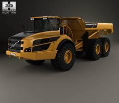 volvo dump truck volvo a40g dump truck 2014 3d model hum3d
