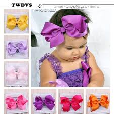 big flower headbands 2017 twdvs big bow infant baby flower headband hair elastic