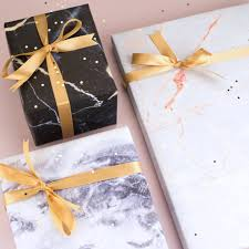 marble wrapping paper marble gift wrap set by bread jam notonthehighstreet
