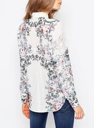 printed blouse snj floral print blouse top boutique malaysia