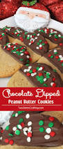 our chocolate dipped peanut butter christmas cookies are super