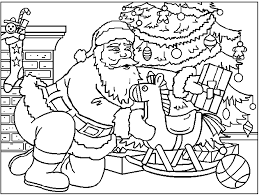 santa u0027s coloring pages