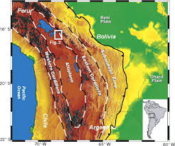 Great Basin Usa Map by South America With Highlighted Bolivia Map Vector Illustration