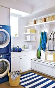 Laundry Room Decorating Ideas by Laundry Room With Fitted Furniture And Stripes Rug Laundry Room