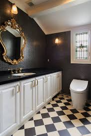 a timeless affair 15 exquisite victorian style powder rooms view in gallery black and gold are a great combination for a victorian styled half bath design