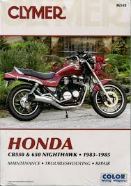 honda cb550 cb650 nighthawk 1983 1985 service repair manual m345