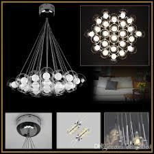 Clear Glass Pendant Light Fixtures Discount Led Clear Glass Pendant Lights Lamp Bubbles Ball Double