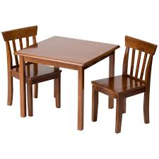 amazon com gift mark square table and chair set natural