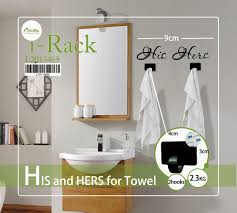his hers wall decor 3d towel hooks wall stickers bedroom removable