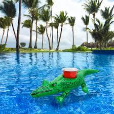 amazon com gofloats floating gator drink holders 3 pack float
