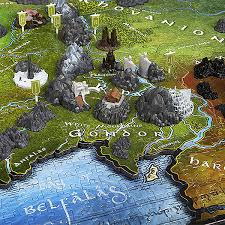 map from lord of the rings lord of the rings map of middle earth 3d puzzle additional image