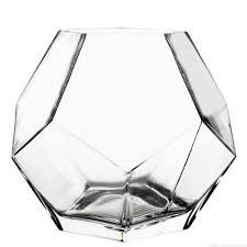 7 inch geometric faceted gem glass vase vase market