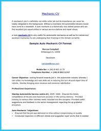 sample mechanic resume enwurf csat co