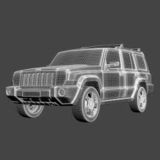 jeep drawing 3d model jeep commander suv cgtrader
