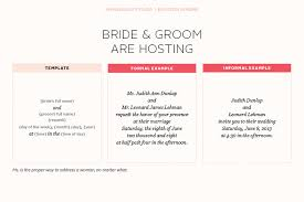 wedding wording sles and groom hosting invitation wording wedding invitations