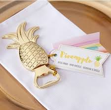 wedding favors bottle opener gold pineapple bottle opener