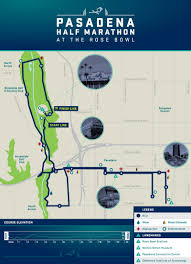 Marathon Route Map by Pasadena Half Marathon U0026 5k At The Rose Bowl Pasadena Half Marathon