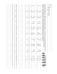 number writing worksheet 1 10 teaching number writing