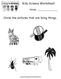kindergarten kids science worksheet printable worksheets legacy
