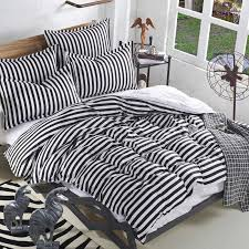 bed linen stunning black and white striped sheet set black